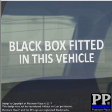 1 x Black Box Fitted in this Vehicle Sticker-WINDOW Sign-Insurance Car,Van